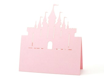 Castle Place Cards set of 10 - Escort Cards,Wedding Place Cards,Seating Card,Baby Shower,Rustic Wedding,Princess,Disney,Fairy Tale,Bridal