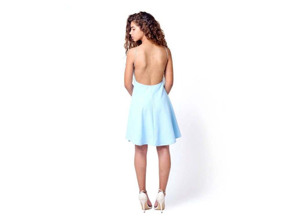 Kurzes Kleid Partei Prom Licht blau Brautjungfer Kleid