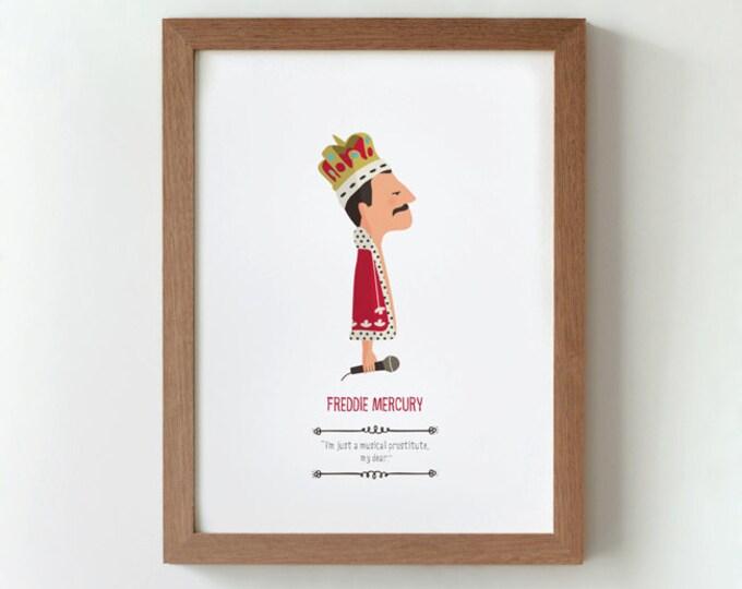 """Ilustración """"Freddie Mercury""""."""