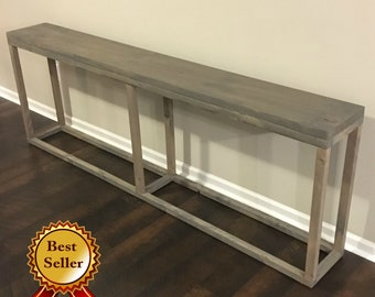 Long Console Table / Narrow Console Table / Skinny Console Table / Sofa  Table / Behind