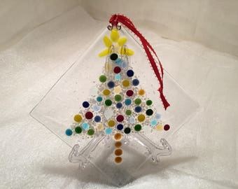 Christmas tree ornament or holiday sun catcher