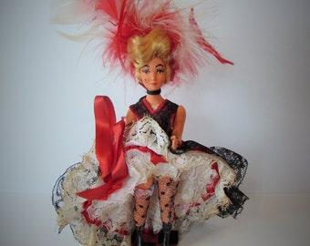 Fantastic French Antique/Vintage Can-Can Dancer Doll.