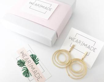 Abstract Whirlwind Earrings, Gold Earrings, Dangle Earrings, Drop Earrings, Minimalistic Earrings, Hypoallergenic Jewelry