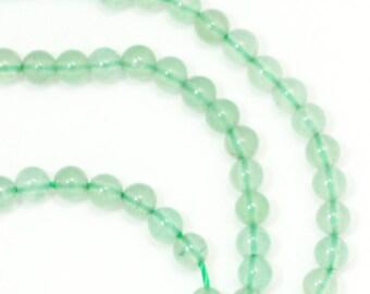 Green Aventurine Beads - 3mm Round