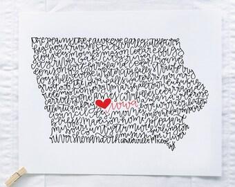Iowa Illustration