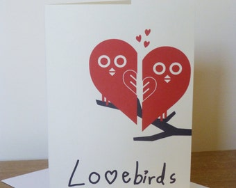 Lovebirds Card | Valentines Day Card