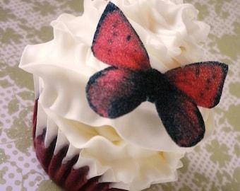 Edible Butterflies - 20 small dark red