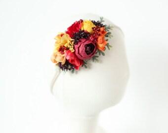 baby flower headband, flower crown headband, baby floral headband, toddler floral headband, flower crown baby, newborn headband, photo prop