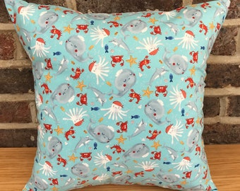 Under the sea cushion, whale pillow, octopus cushion, crab cushion, shark pillow, children's pillow, babies cushion, nursery cushion