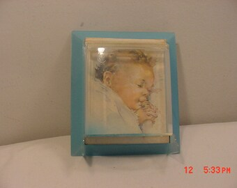 Vintage Plastic Baby Stard Bank Frame - Advertising Gulf Hill Dairy Farm  18 - 1006