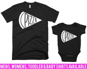 Pizza Shirt Dad and Baby Pizza Tshirt Dad and Baby Pizza T Shirt Dad and Baby Pizza T-Shirt Dad and Baby Matching Men Women Child Tshirts