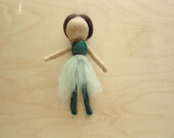 Needle Felted Wool Fairy- Spring