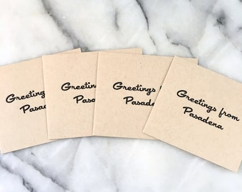 Greetings From Pasadena, set of 4 cards with envelopes