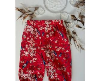Baby Boho Pants, Toddler Boho Pants, Girl Boho Pants, Floral Boho Pants, Baby girl clothing, Girl clothing, Girl pants, Baby girl pants