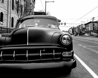 Car Photography, Philadelphia, Americana, Black and White, Classic Cars, Car Art, Garage Decor, Old Cars, Home Decor, Wall Art, Mens Gift