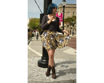 Starry Night Doctor Who Tardis Circle Skirt
