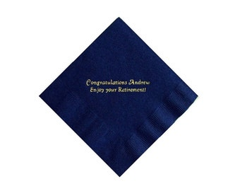 Retirement Personalized Beverage Napkins