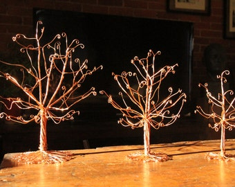 Jewelry Tree Display Organizer Copper Wire Earrings Necklace