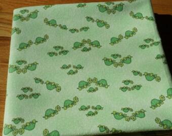 Turtle Receiving Blanket, Turtle Blanket, Green Flannel Blanket, Baby Blanket, Large Blanket, Swaddle Blanket, Turtle Flannel Blanket, Green