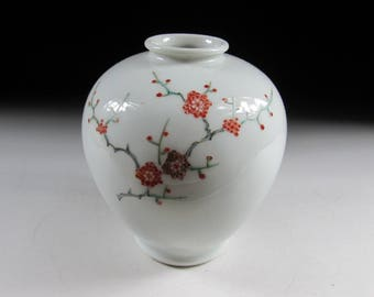 Ume Blossom Arita-ware Vase, Koedo