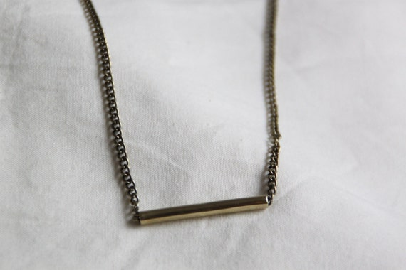 Brass Straight Tube Necklace