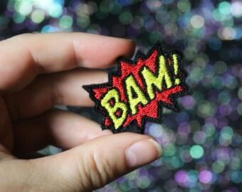 BAM Lapel Pin, Comic Tie Tack, Retro Style, Bride Groom