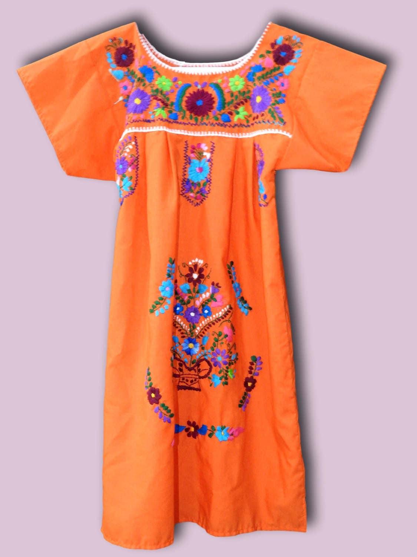 Mexican Dress Bella Natural Beige (Small)