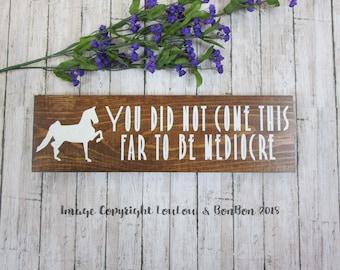 Equine Goals, Equestrian Goals, Rustic Wooden Sign, Equestrian Gift, Equine Motivation, Horse Decor, Avid Equestrian, Saddlebred, Barn Sign