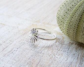 Sunburst Toe Ring, Boho Toe Ring, Silver Toe Ring, Adjustable Toe Ring