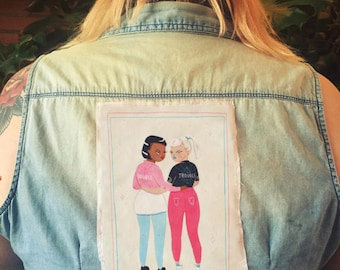 double trouble - sew on patch