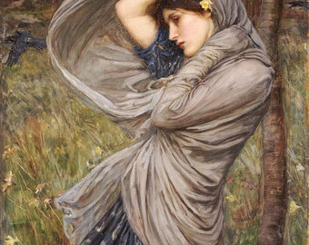 John William Waterhouse: Boreas. Fine Art Print/Poster. (003649)