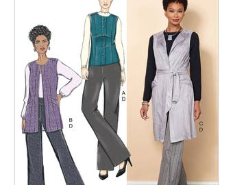 Butterick Pattern B6524 Misses' Vest, Belt and Pants