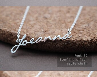 Personalized Name Necklace-Custom Name Necklace-Custom Name Gift-Your Name Necklace-Bridesmaids Jewelry-Children Names-Birthday Gift. #NF39