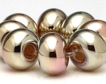 Handgefertigte Glasperlen Perlen Gold Metall Spacer Set SRA