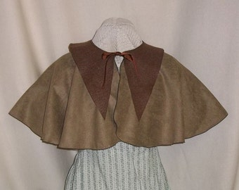 Brown Capelet- Suede Costume Cape