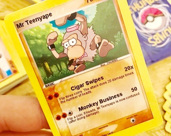 Mr Teeny x Primeape Trading Card