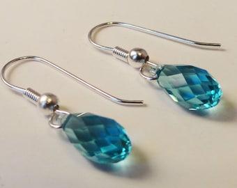 Earrings with Swarovski Blue Zircons - ER0001