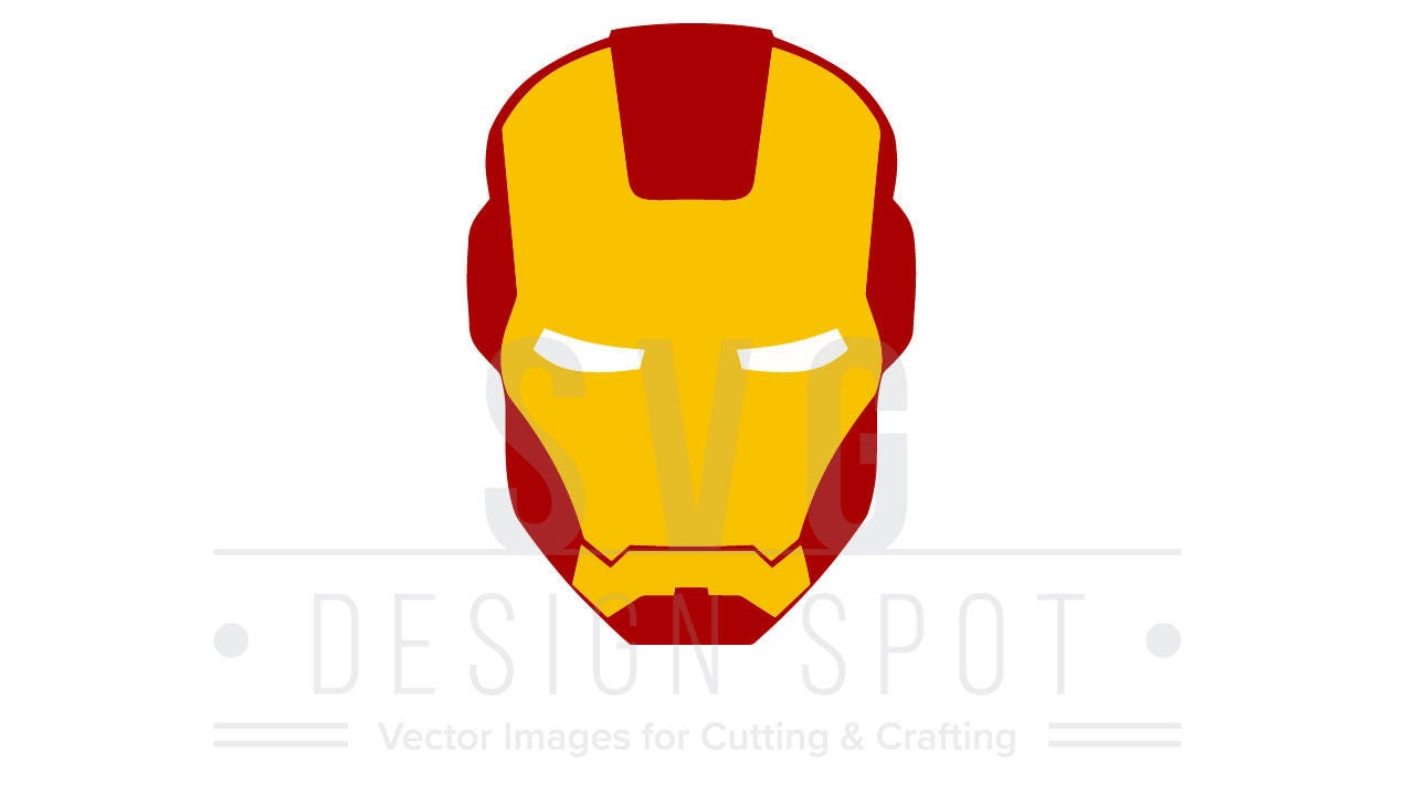 Iron Man Head Face SVG Wall Poster Shirt Art, Avengers Super Hero ...