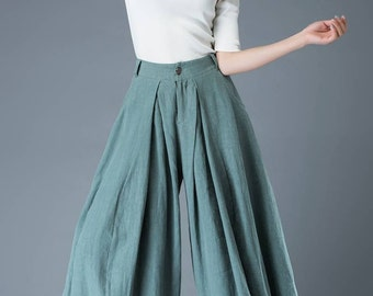 Linen pants, palazzo pants, Wide leg pants, linen pants woman, long pants, boho pants, maxi pants, palazzo pants plus size C835