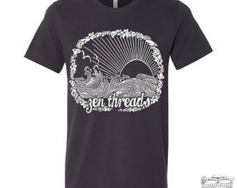 Men's Zen Threads BEACH t shirt s m l xl xxl (+ Color Options) custom