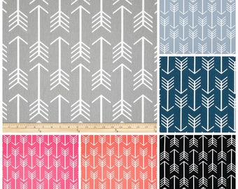 Arrow Fabric By The BOLT Black Storm Grey Powder Blue Navy Hot Pink Coral  Upholstery Home