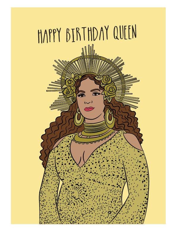 Beyonce birthday queen card happy birthday queen beyonce zoom bookmarktalkfo Image collections