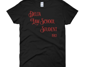 Delta Sigma Theta Law School Student women's short sleeve t-shirt