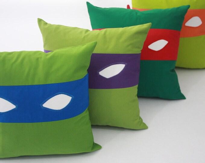 Teenage Mutant Ninja Turtles Pillow-Leonardo-Teenage Mutant Ninja Turtles nursery pillow