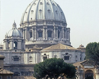 8x10 Photograph: St. Peters Basilica dome, Vatican City, Italy