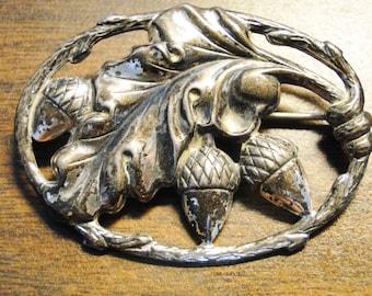 "Gorgeous Danecraft Sterling Silver Oak Leaves Brooch  Danecraft Sterling Brooch - Signed Danecraft - 8.3 Grams - 1 1/2"" X 2"" - Great Brooch!"