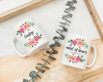 Asking Maid of Honor Coffee Mug Gift | Bridesmaid Proposal | Personalized Coffee Cup
