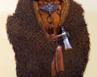 SPIRIT GUIDE - native american, indian, warrior, buffalo hide, spiritual,