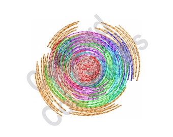 Spiral - Machine Embroidery Design