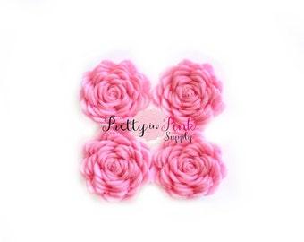 "1"" Mini Light Pink Felt Flowers- You Choose Quantity- Diy Headband Supplies- Flower- Wholesale- Supply Shop"